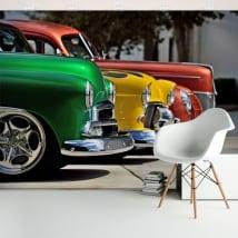 Murales de vinyle avec voitures chevrolet vintage