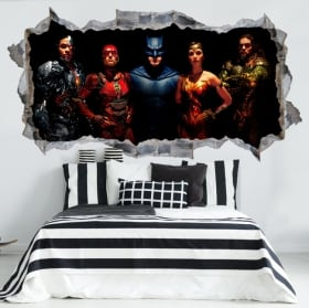 Vinyle décoratif 3d batman gotham city impostors