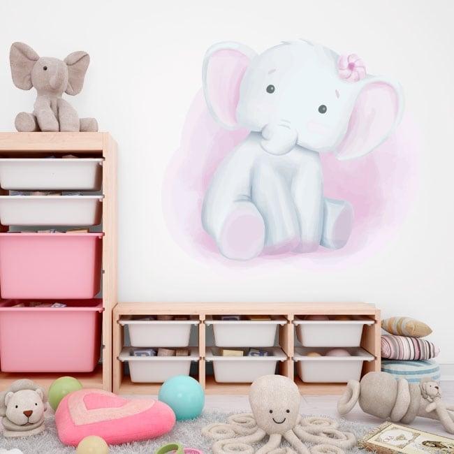 Vinyle décoratif pour enfants éléphant