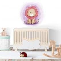 Vinyle pour enfants ou bébés lion