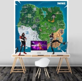 Vinyle et autocollants carte fortnite