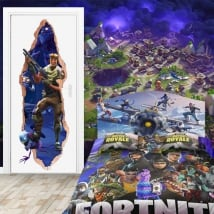Papier peint 3d map fortnite video game