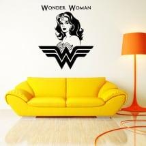 Vinyle décoratif et des autocollants silhouette wonder woman