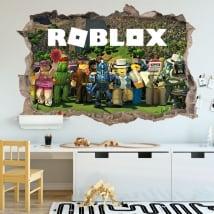Autocollants en vinyle jeu vidéo roblox 3d