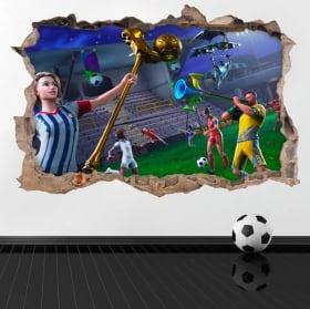 Vinyle et autocollants jeux video fortnite endgame 3d