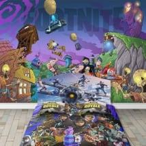 Peintures murales adhésives jeu vidéo fortnite