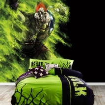 Peintures murales de vinyle marvel super-héros hulk