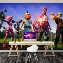 Murales les vengeurs jeu vidéo fortnite