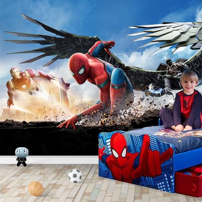 Murales de vinyle homme araignée retour à la maison