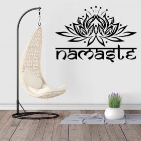 Vinyle et autocollants décoratifs texte namaste