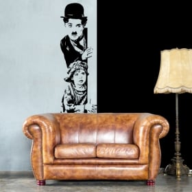 Vinyle décoratif charles chaplin le gamin