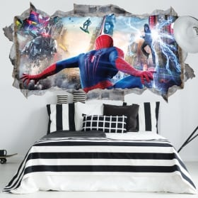 Vinyls les murs spiderman 3d