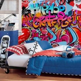 Peintures murales de vinyle de graffitis