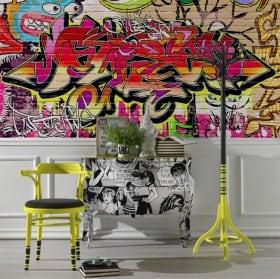 Peintures murales de vinyle graffiti