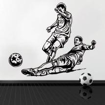 Vinyle décoratif et des autocollants de football