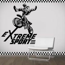 Vinyle et autocollants motocross sport extrême