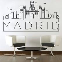 Vinyle décoratif et des autocollants skyline de madrid
