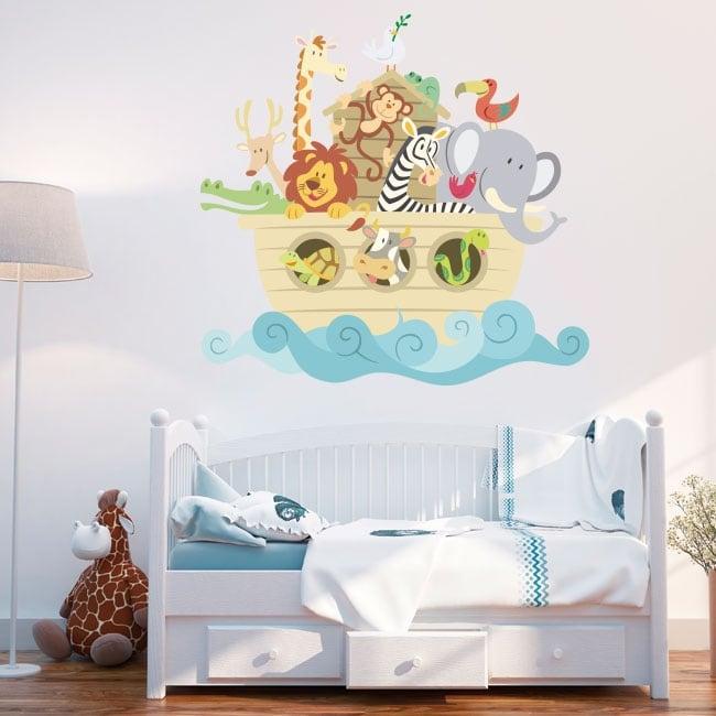 Vinyle et autocollants pour enfants ou bébés l'arche de noé