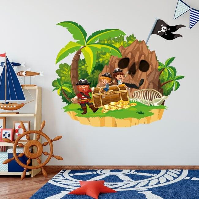 Vinyle pour enfants le trésor du pirate