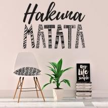 Vinyle décoratif et stickers hakuna matata