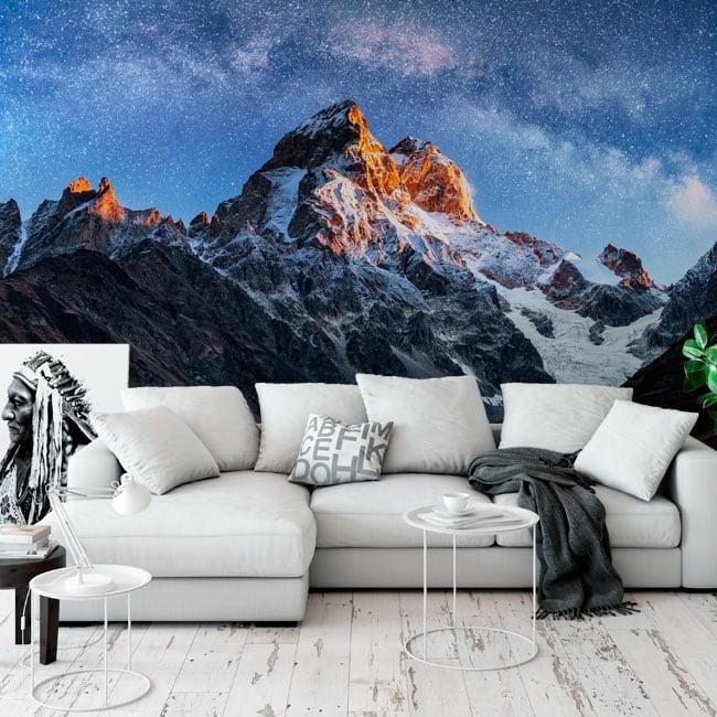 Murales de vinyle ciel étoilé sur le mont ushba meyer