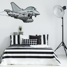 Vinyle décoratif et autocollants jeunesse avion de chasse