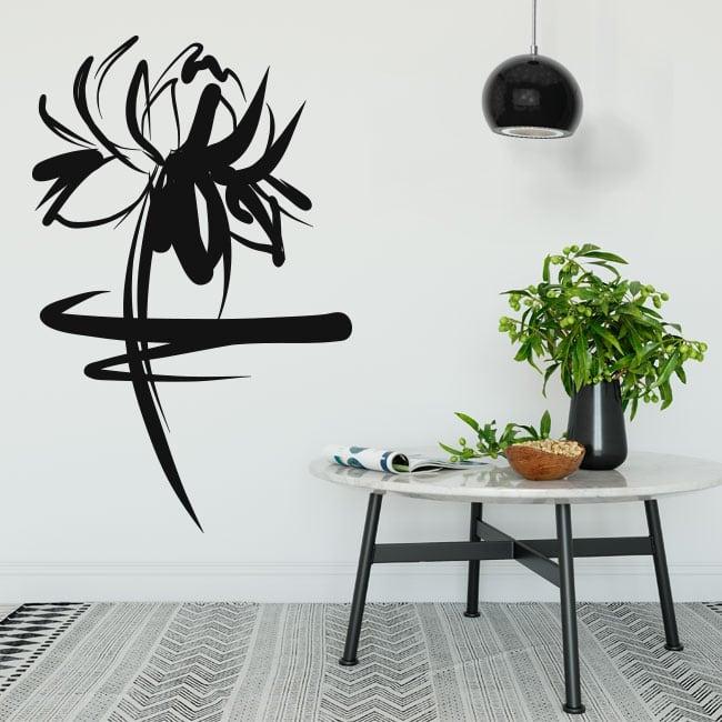 Vinyle décoratif et des autocollants trait floral