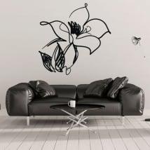 Vinyle décoratif et des autocollants coups de fleur
