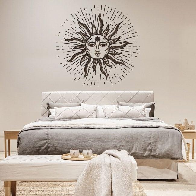 Vinyle décoratif et des autocollants soleil avec visage