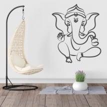 Vinyle et autocollants silhouette ganesha éléphant