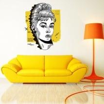 Vinyle décoratif et stickers audrey hepburn