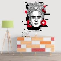 Vinyle décoratif et stickers frida kahlo