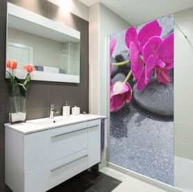 Vinyle pour écrans de salle de bain style zen
