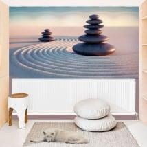 Peintures murales de vinyle pierres zen