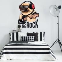 Vinyle décoratif et des autocollants chien de roche