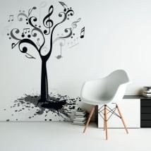 Vinyle et autocollants avec notes de musique