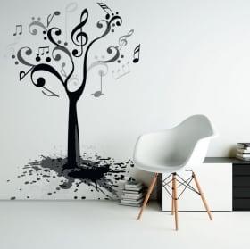 Vinyle décoratif et des autocollants arbre sec avec des oiseaux
