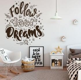 Vinyle décoratif avec phrases de motivation