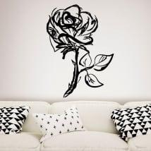 Vinyle décoratif rose coup