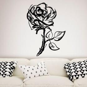 Vinyle décoratif et autocollants avec des roses