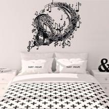 Vinyle décoratif spirale avec des notes de musique