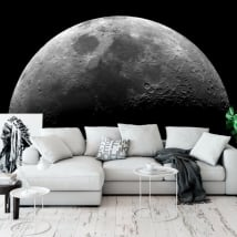 Peintures murales adhésives de la lune