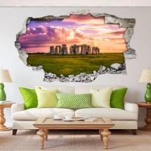 Vinyle décoratif et stickers 3d stonehenge
