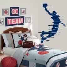 Vinyle décoratif et des autocollants ballon de basket