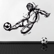 Vinyle et autocollants football