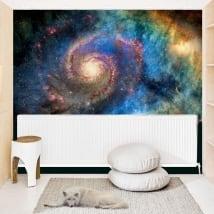 Murales en vinyle galaxie spirale