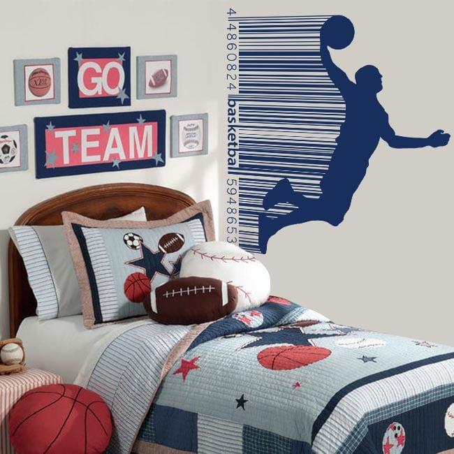 Vinyle et autocollants basket-ball code barre