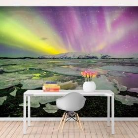 Papiers peints aurore boréale islande