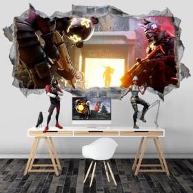 Vinyles trou de mur 3d jeu vidéo fortnite