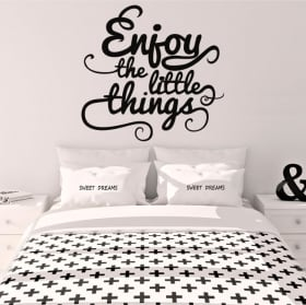 Vinyle décoratif phrase anglaise enjoy the little things
